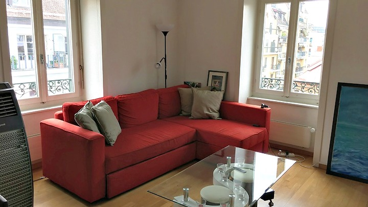 4 room apartment in Genève - Eaux-Vives, furnished, temporary