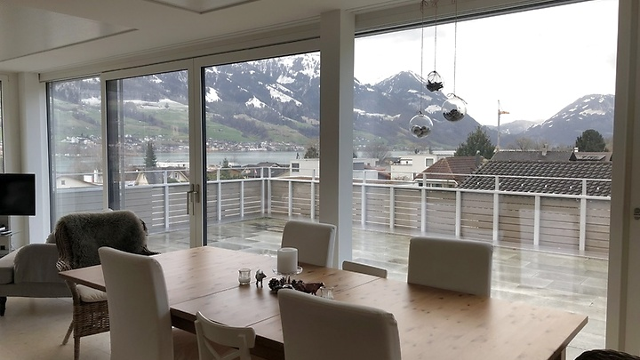 5 room attic apartment (penthouse) in Sarnen (OW), furnished