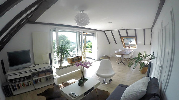 2½ room attic apartment in Basel - Riehen, furnished