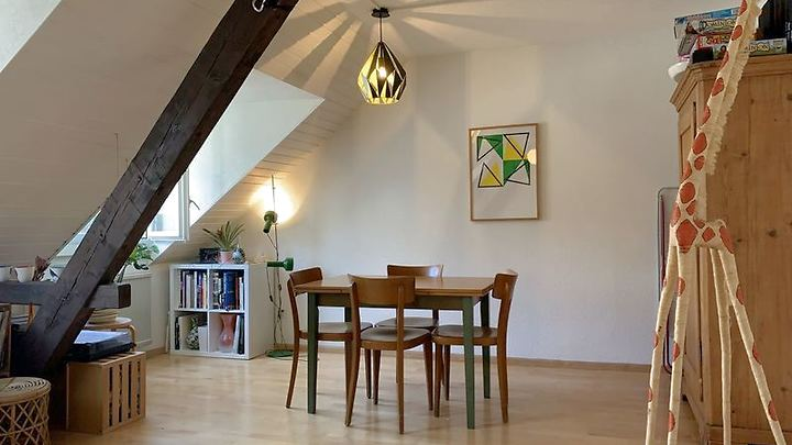 3 room attic apartment in Basel - Clara, furnished, temporary